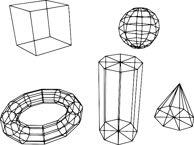 geometry, solids, cone, cube, cylinder, mesh, meshes