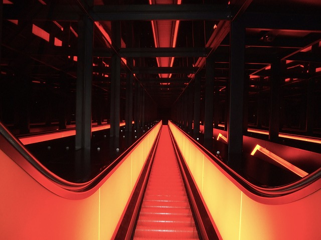 germany, escalator, steps, building, architecture