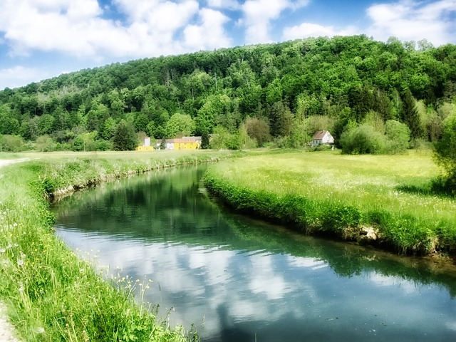 germany, landscape, scenic, summer, spring, stream