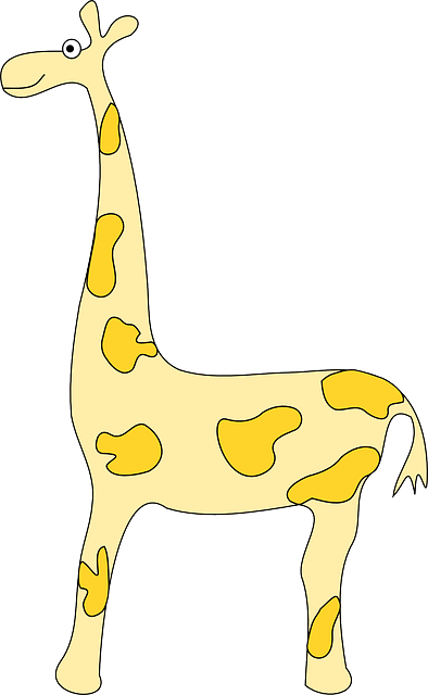 giraffe, animal, africa, mammal, yellow