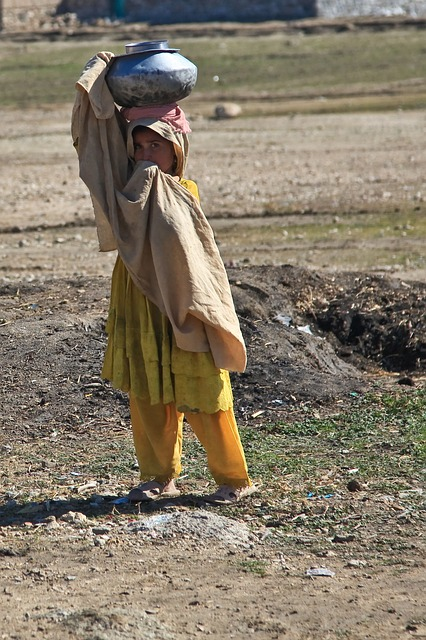 girl, afghani person, alone, child, child labor, labor