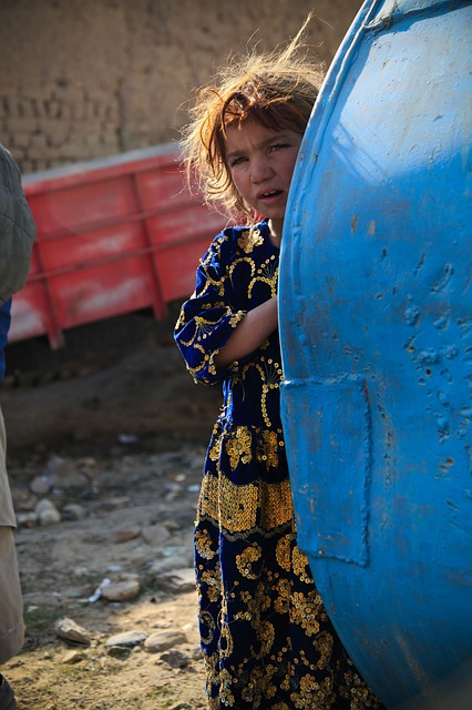 girl, cute, afghanistan, person, alone, child, curious