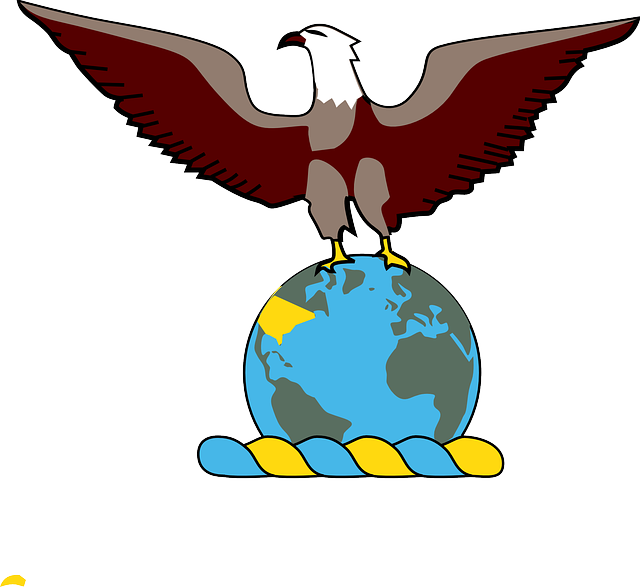 globe, world, earth, eagle, bird, stand, pride, over