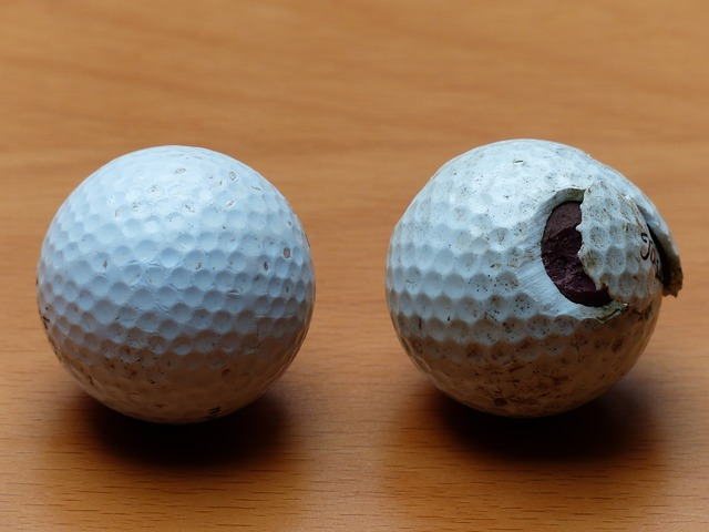 golf balls, golf, balls, white, broken, battered, saji