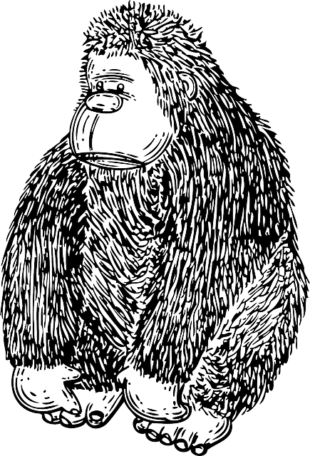 gorilla, primate, animal, cartoon, media, image