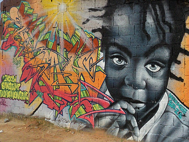 graffiti, art, girl, black, hope, look, eyes, innocent