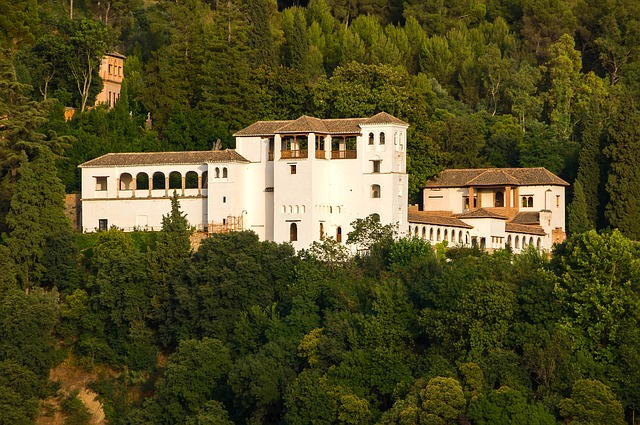 granada, spain, palace, estate, architecture, buildings
