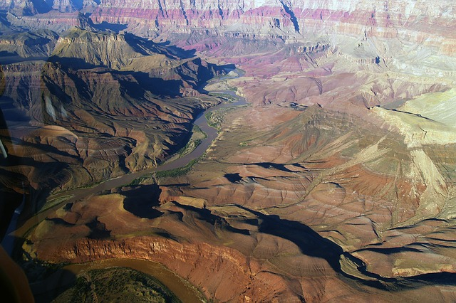 grand canyon, aerial view, landscape, nature, arizona