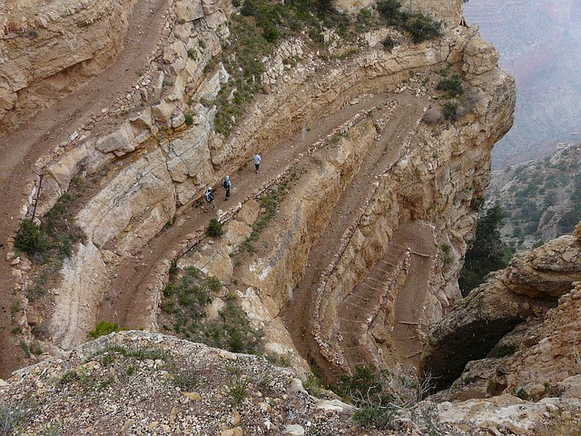 grand canyon, trail, migratory path, descent, path