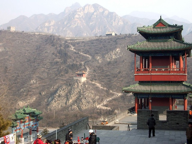 great, wall, china, pagoda