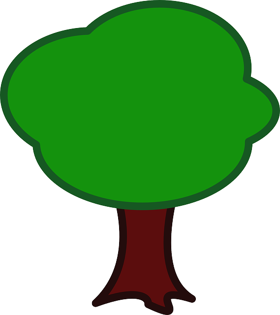 green, apple, map, tree, cartoon, trees, plant