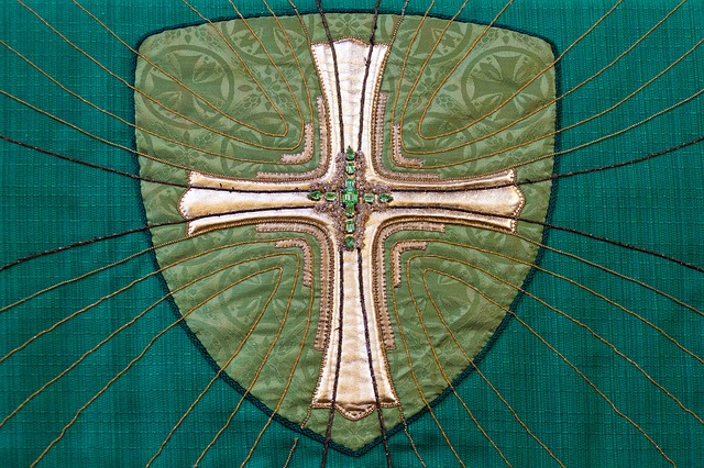 green, art, christian, christianity, church, cloth
