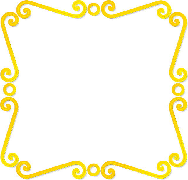 green, certificate, rectangular, star, yellow, design