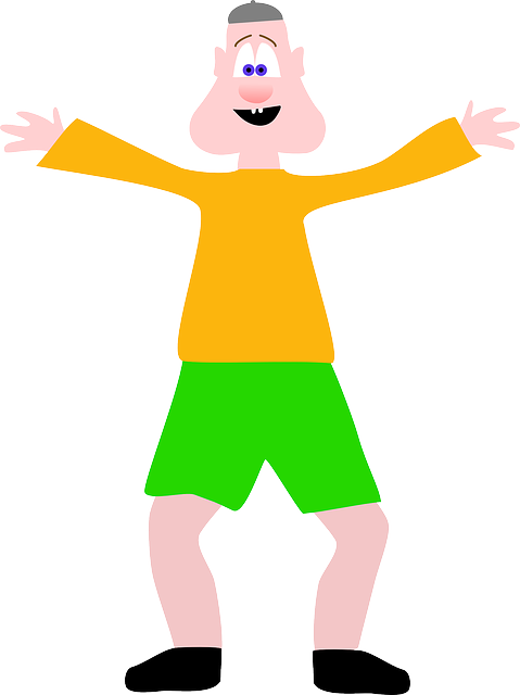 green, open, happy, kid, kids, face, orange, body, arms