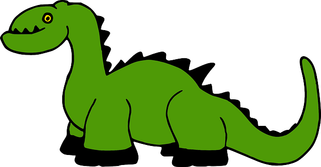 green, simple, color, art, dinosaur, ancient, spikes