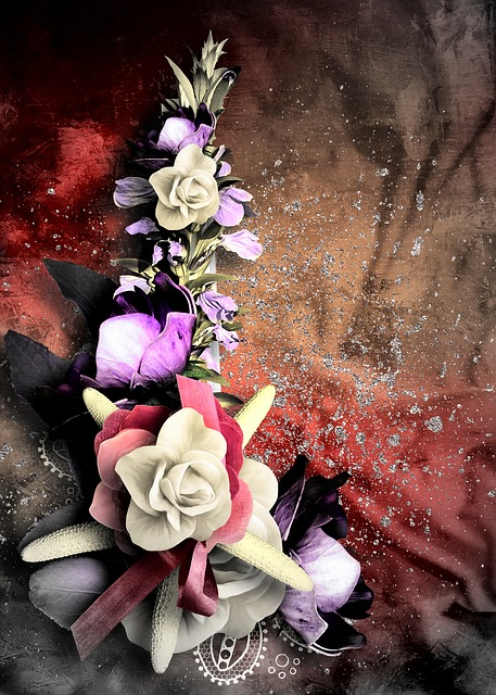 greeting, card, flowers, nature, beauty, digital art