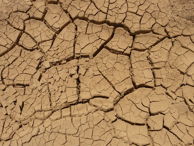 ground, dry, parched, desert, crack, column