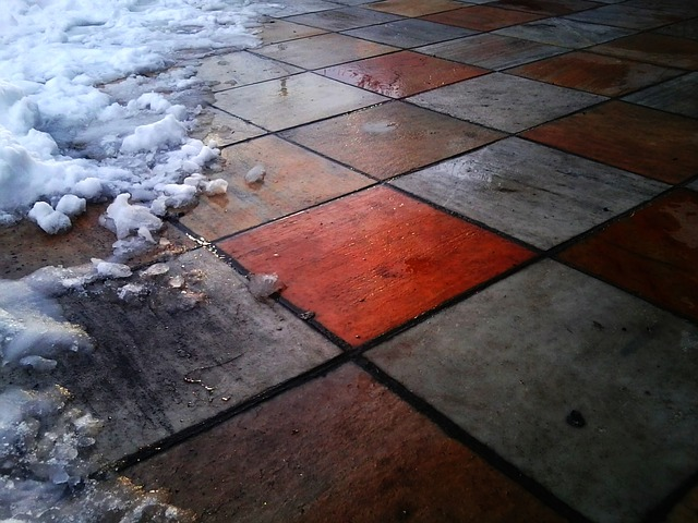 ground, tile, tiles, snow, pattern, colorful, color