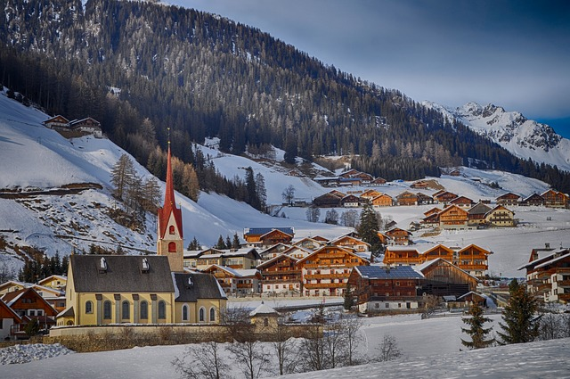 gsies, italy, mountains, landscape, scenic, winter