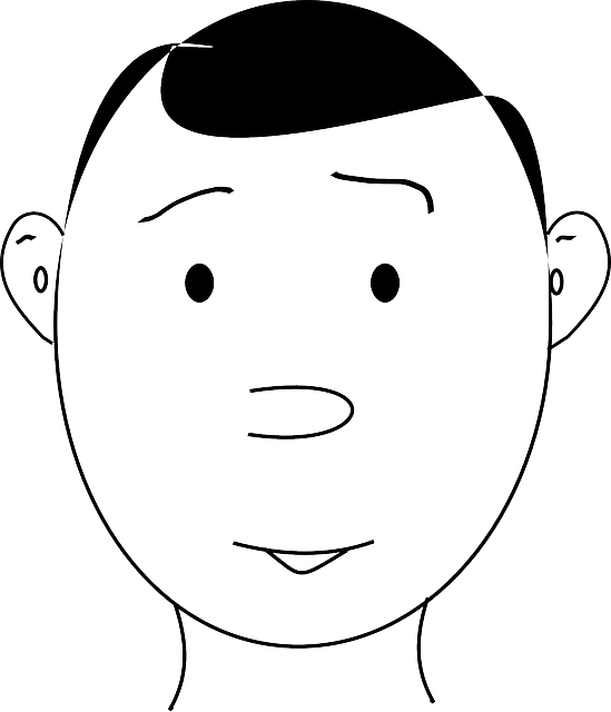 head, black, part, outline, drawing, people, boy, man