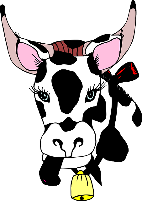 head, cow, out, bell, animal, tongue, sticking