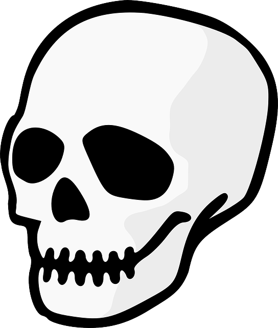 head, dead, icon, simple, symbol, skull, cartoon