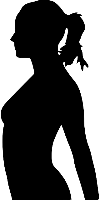 head, hand, people, profile, lady, silhouette, female