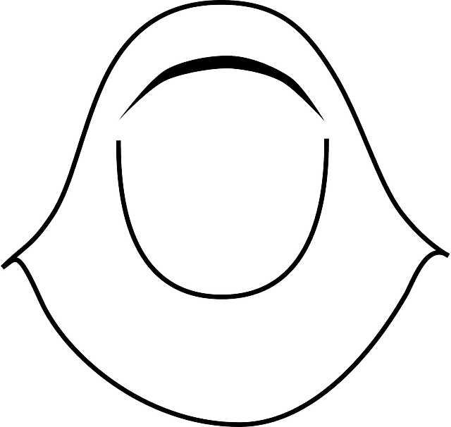 head, icon, outline, drawing, woman, girl, cartoon
