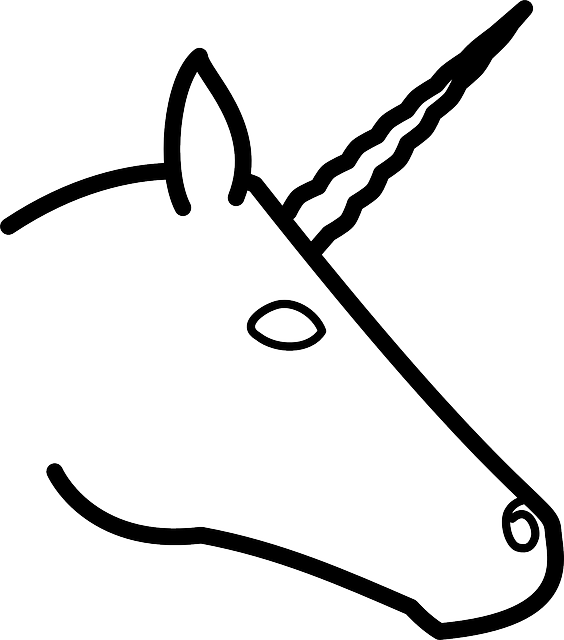 head, profile, silhouette, cartoon, horse, unicorns