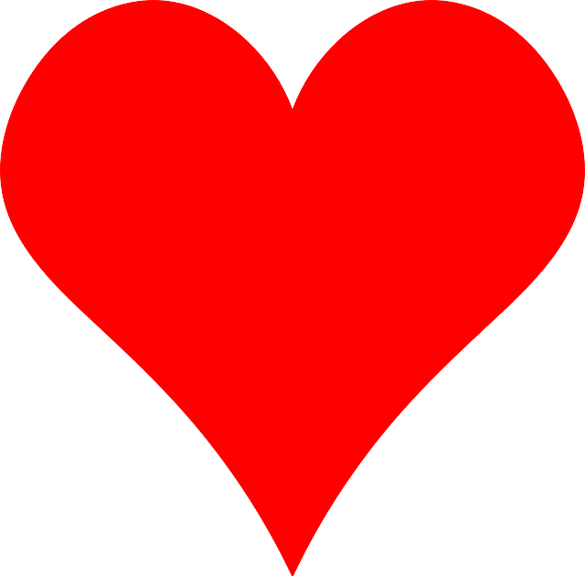 heart, red, simple, symbol
