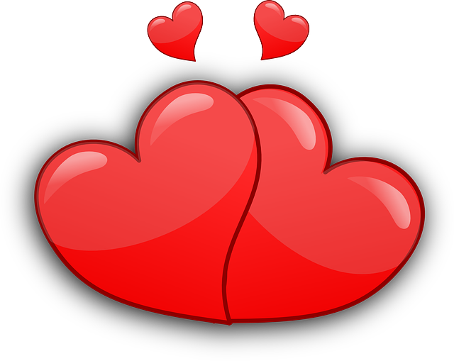 hearts, couple, together, glossy, love, romance