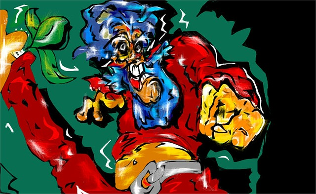 hero, super, lion, head, colourful, heads, cartoon
