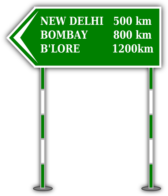 highway, direction, distance, board, place, road