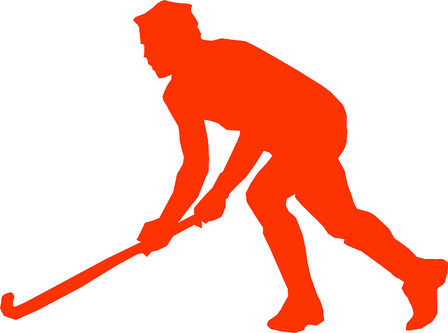 hockey, hockey stick, sports, player, silhouette