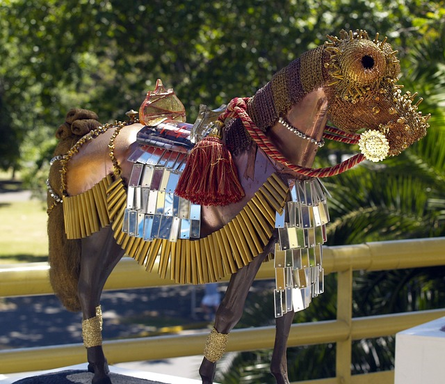 horse, artwork, art, animal, metal, colorful, abstract