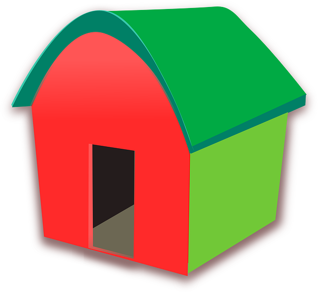 house, home, building, cartoon, funny, simple, red