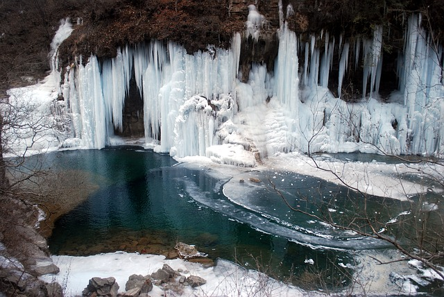 ice, pond, mountain, spring, springs, cold, nature