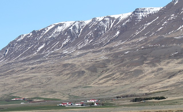 iceland, landscape, scenic, mountains, snow, valley