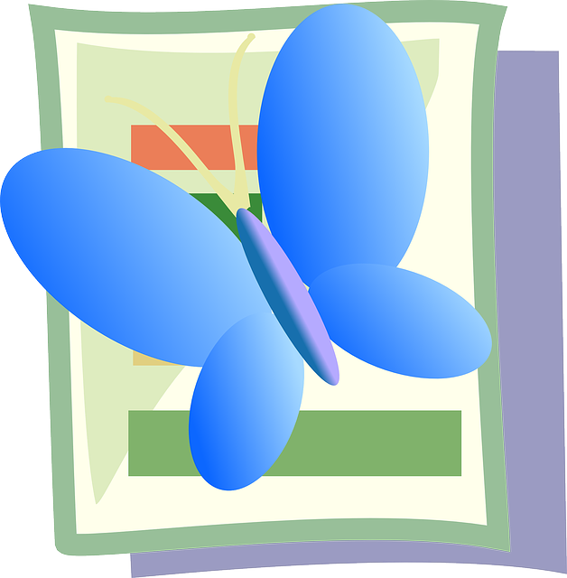 icon, blue, butterfly, theme, insect