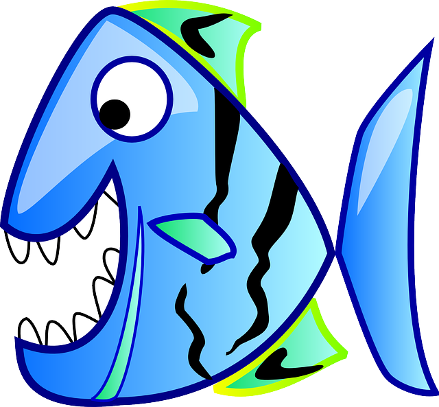 icon, blue, fish, theme, apps, piranha