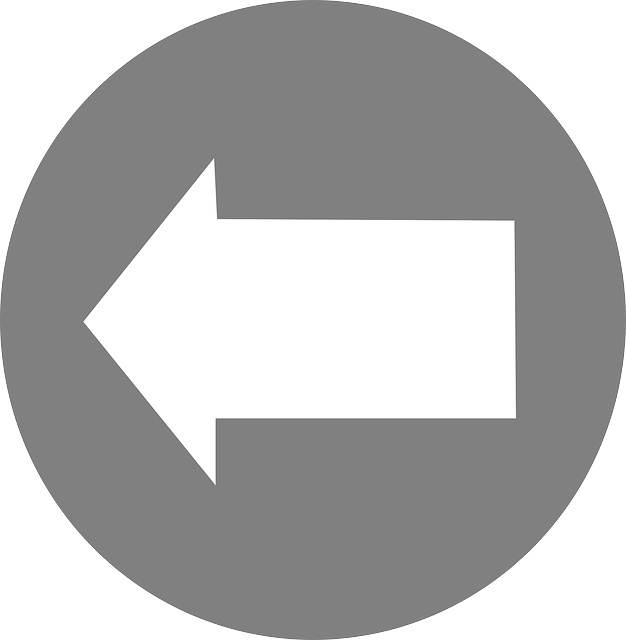 icon, left, arrow, circle, white, shapes, pointing