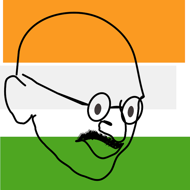 icon, outline, face, non, great, indian, father