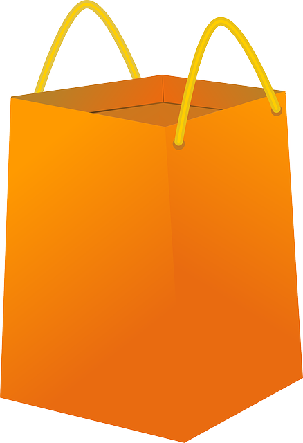 icon, paper, outline, cartoon, empty, orange, bags