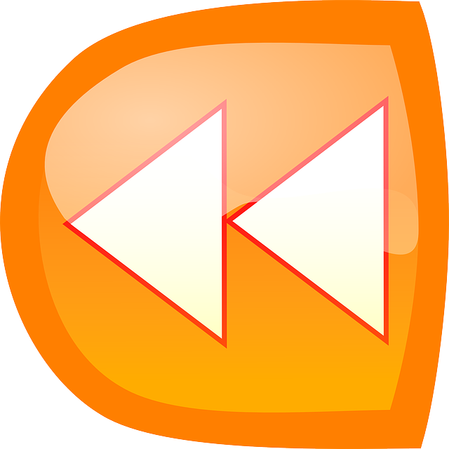 icon, white, orange, arrows, theme, action, backwards