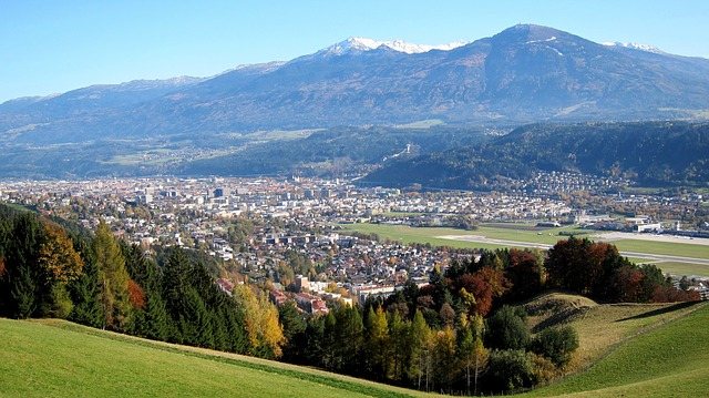 innsbruck, austria, landscape, mountains, city, cities