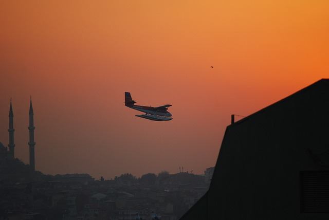 istanbul, turkey, sunset, seabird, seaplane, twin otter