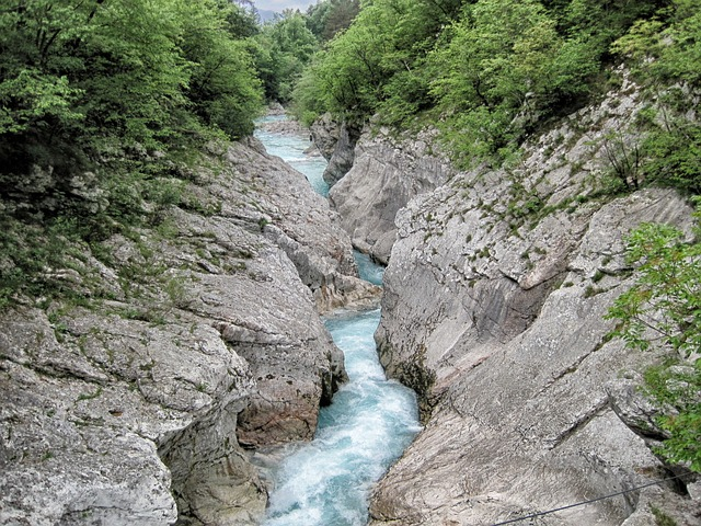 italy, stream, water, rocks, rocky, landscape, country