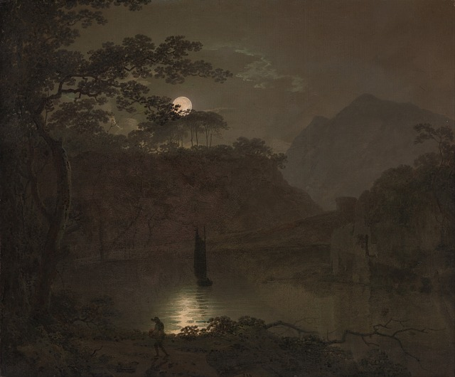 joseph wright, painting, oil on canvas, artistic