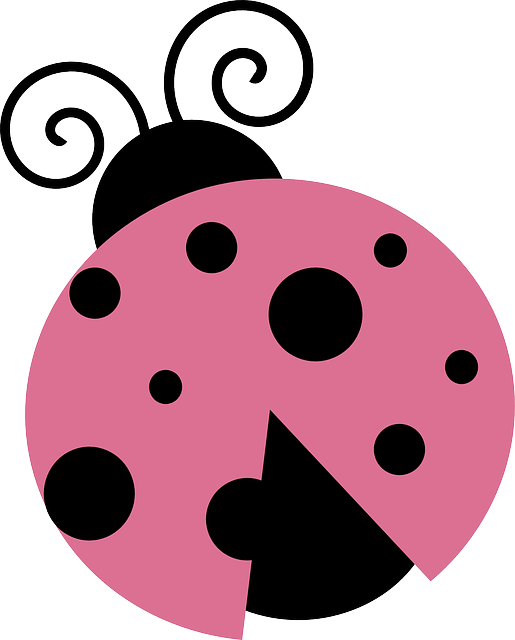 lady, march, cartoon, luck, pink, spring, bug, summer