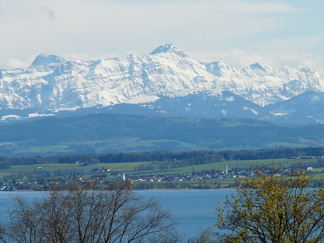 lake constance, landscape, mountains, alpine, säntis